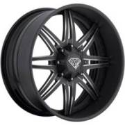 DPR ASK-47 Matte Black Milled Wheels