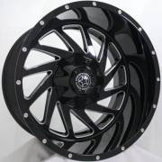 DWG Offroad DW13 Crusher Gloss Black Milled Wheels