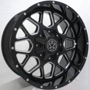 DWG Offroad DW14 Gunner Gloss Black Milled Wheels