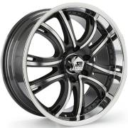SSC 292A Black Machined Wheels