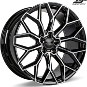 Ace Alloy AFF03 Gloss Piano Black Machined Wheels