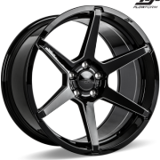 Ace Alloy AFF06 Gloss Black Milled Wheels