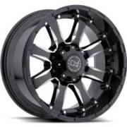 Black Rhino Sierra Gloss Black Milled Wheels