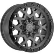 Black Rhino Sprocket Matte Gunmetal with Black Lip