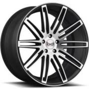 Blaque Diamond BD-2 Black Machined Wheels