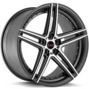 Blaque Diamond BD-6 Matte Graphite Machined Wheels