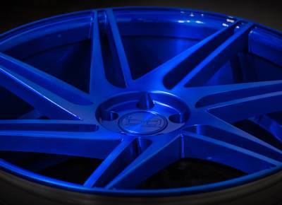 Blaque Diamond BD-1 Custom Blue Wheels