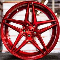 Blaque Diamond BD-8 Custom Red Wheels