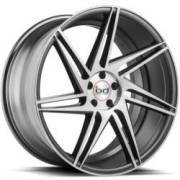 Blaque Diamond BD-1 Matte Graphite Machined Wheels