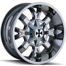 Cali Offroad 9104C Dirty Chrome Wheels