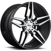 DUB Wheels Attack 5 S215 Brushed Face Black