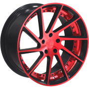 Euro Racing ERW001 Red and Black Wheels