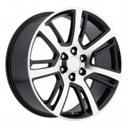 Style 48 Cadillac Escalade Black Machined Wheels