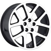 Factory Style 64 Viper Machine Black Wheels