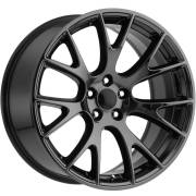 Factory Style 70 Dodge Hellcat Black Chrome Wheels