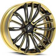 Forgiato Montare ECL Gold and Black Wheels