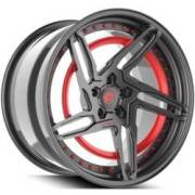 Forgiato Technica 2.1-R Grey and Red Wheels