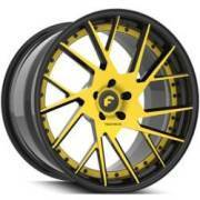 Forgiato Technica 2.2 Yellow and Black Wheels