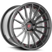 Forgiato Technica 2.3 Grey and Red Wheels