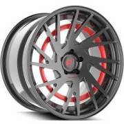 Forgiato Technica 2.5-R Grey and Red Wheels