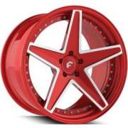 Forgiato Technica 2.6 Red and White Wheels