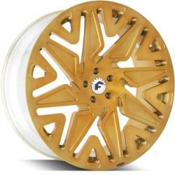 Forgiato Attivo-M Brushed Gold Wheels