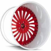 Forgiato Autonomo-L Red and White Wheels