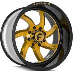Forgiato Azioni-T-L Gold and Black Wheels