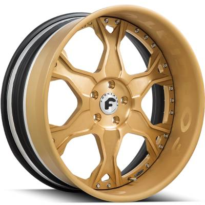 Forgiato Braccio Anodized Gold Wheels