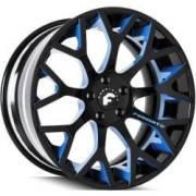 Forgiato Drea-ECL Black and Blue Wheels