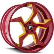 Forgiato Elica-ECX Red and Yellow Wheels