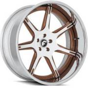 Forgiato F2.06-B White and Brown Wheels