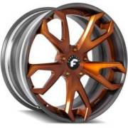 Forgiato F2.19-ECL Orange and Grey Wheels