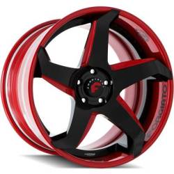 Forgiato F2.21-ECL Black and Red Wheels