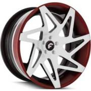 Forgiato Finestro-ECL White, Black and Red Wheels