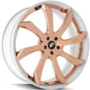 Forgiato Fondare-ECL Rose Gold White Wheels