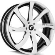 Forgiato Quattresimo-ECL White and Black Wheels