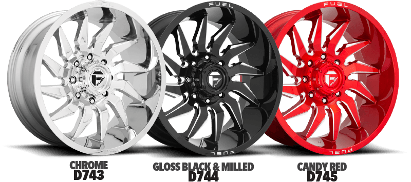 Fuel Saber Wheels New Finishes