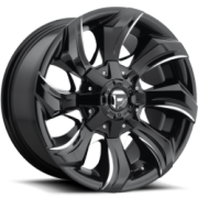 Fuel Stryker Gloss Black Milled Wheels