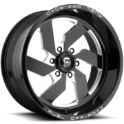 Fuel Turbo 6 Gloss Black Milled Wheels