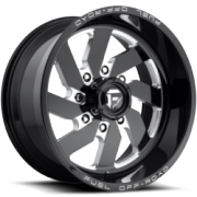 Fuel Turbo Black Milled Wheels