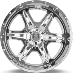 Full Throttle FT-6054 Bullet Chrome Wheels
