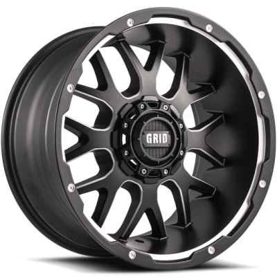 Grid Off-Road GD2 Matte Black Machined