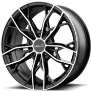 Helo HE907 Gloss Black Machined Wheels