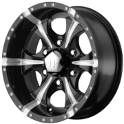 Helo HE791 MAXX-6 Black Milled Wheels