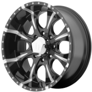 HE791 MAXX-8 Black Milled Wheels