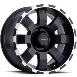 Impact Wheels Destroyer Black with Machined Edge