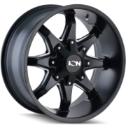 Ion Style 181 Satin Black Milled Wheels