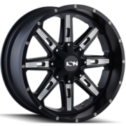 Ion Alloy Style 184 Satin Black Milled Wheels