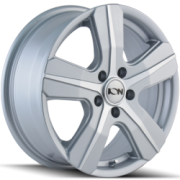 Ion Style 101 Silver Machined Wheels
